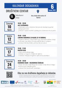 Kalendar događanja za lipanj