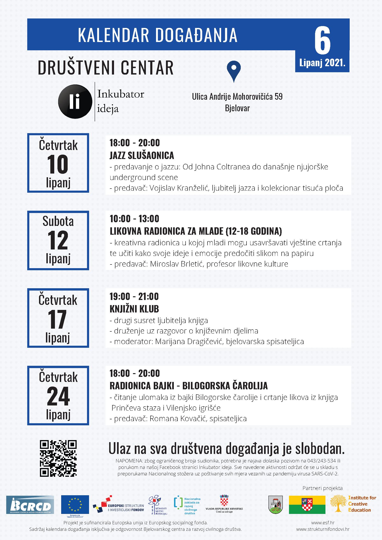 Kalendar događanja za lipanj 2021.